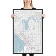 Load image into Gallery viewer, Seattle Typographic Framed Poster