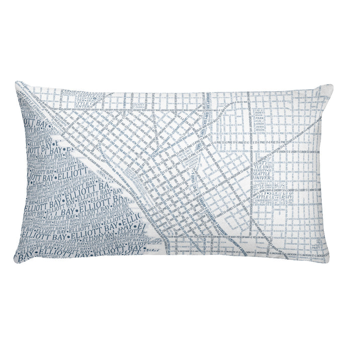 Seattle Typographic Premium Pillow