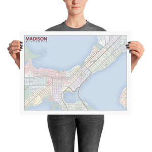 Madison Typographic Poster