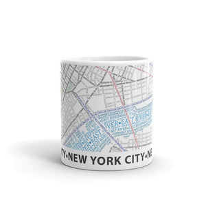New York Typographic Mug