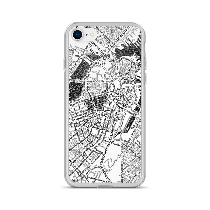 Boston Typographic iPhone Case
