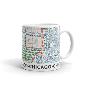 Chicago Typographic Mug