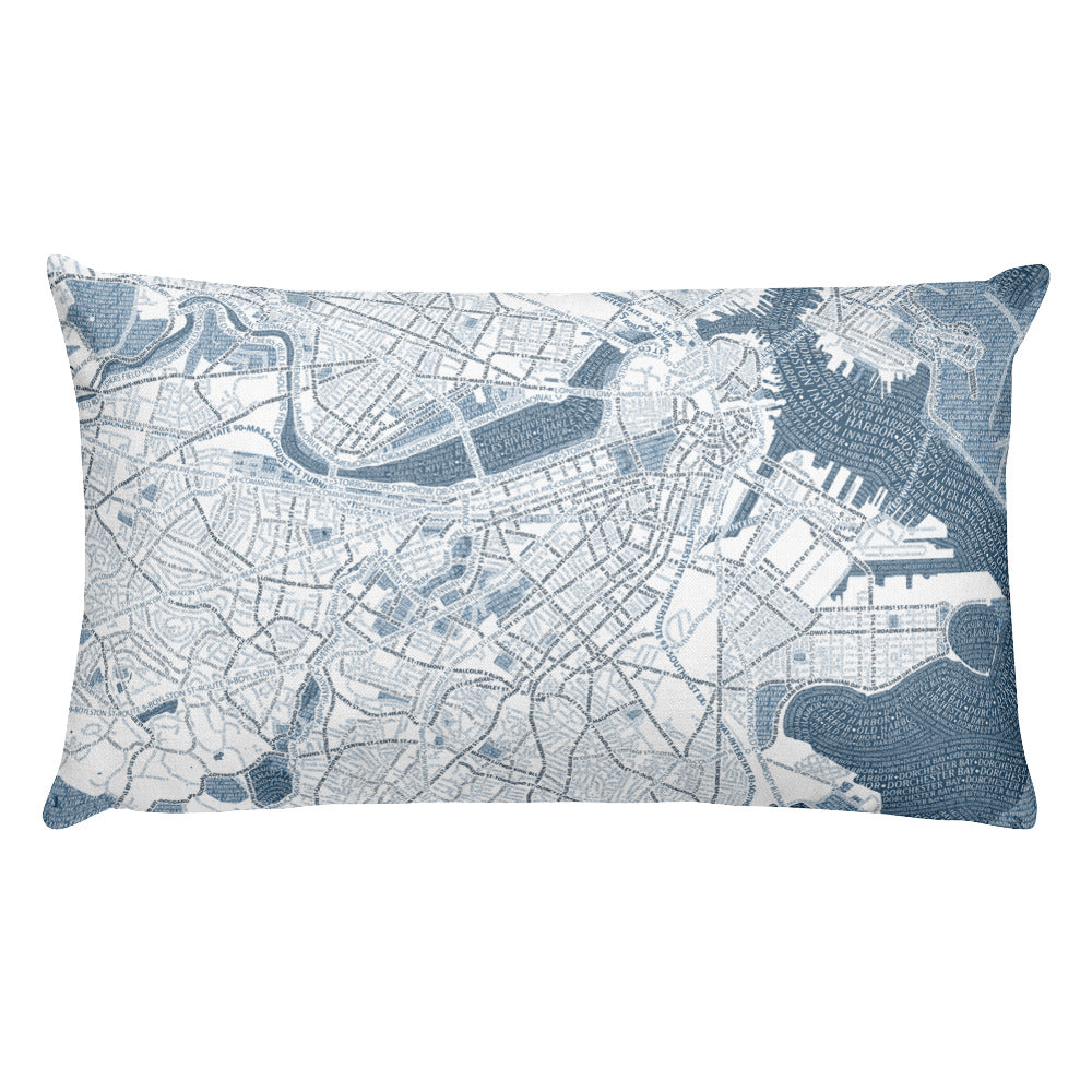 Boston Typographic Premium Pillow