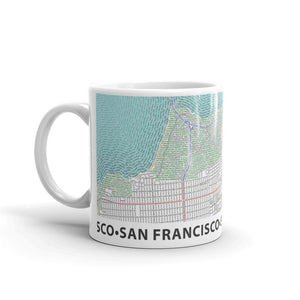 San Francisco Typographic Mug