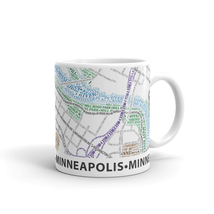 Minneapolis Typographic Mug