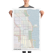 Load image into Gallery viewer, Chicago Typographic Poster