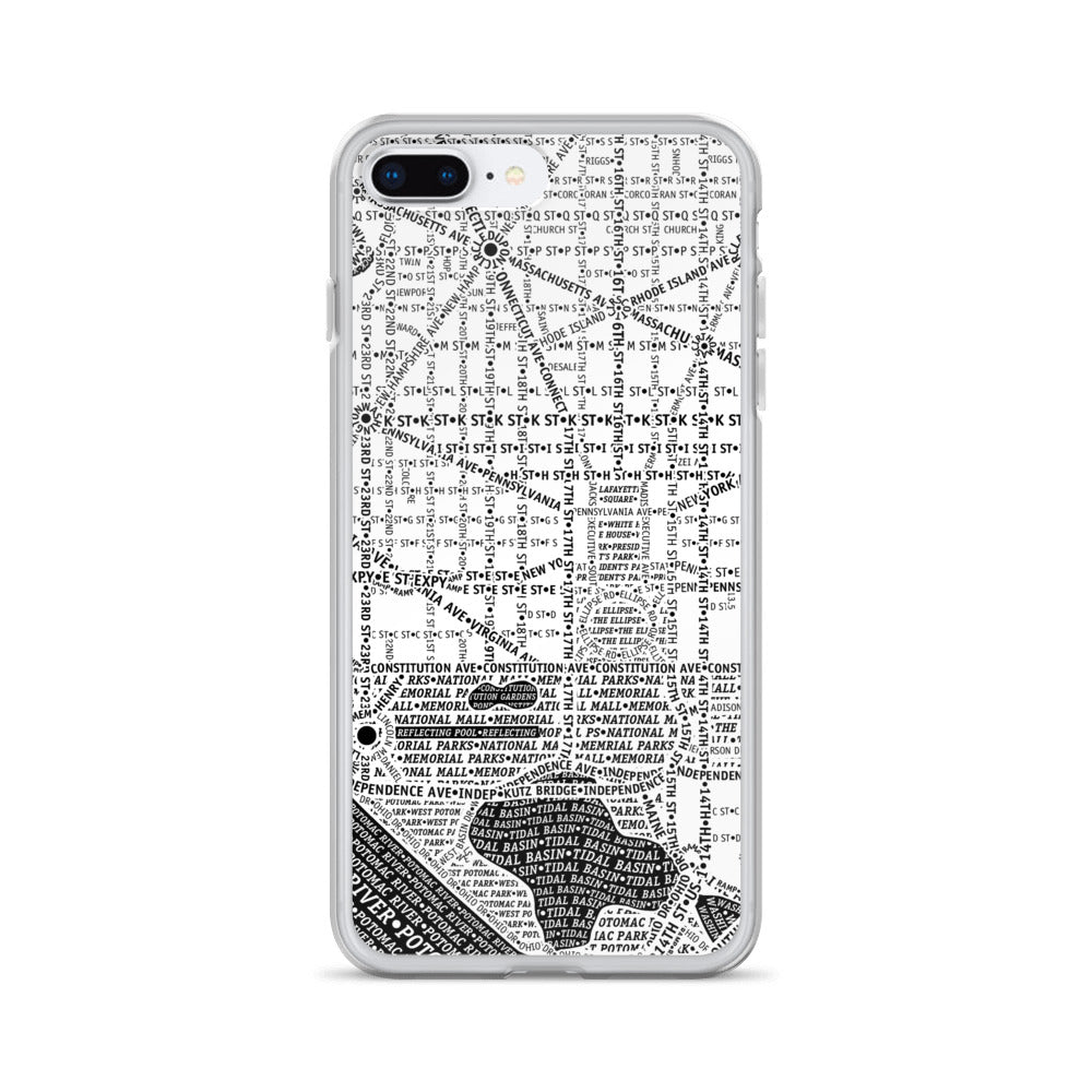 Washington DC Typographic iPhone Case