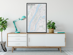 New York City Typographic Framed Poster