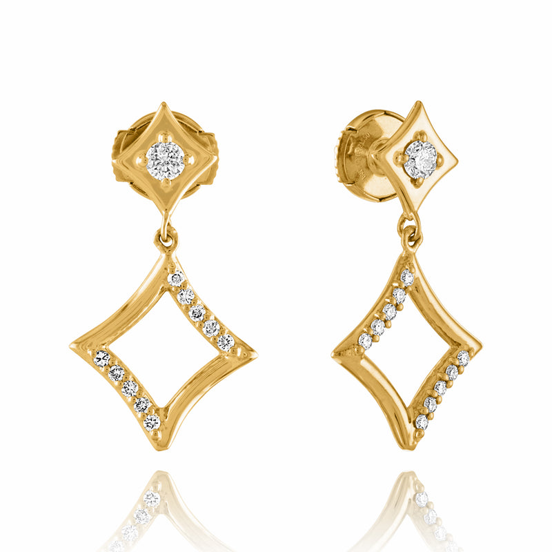 Diamond Dusted Small Harlequinade Earrings