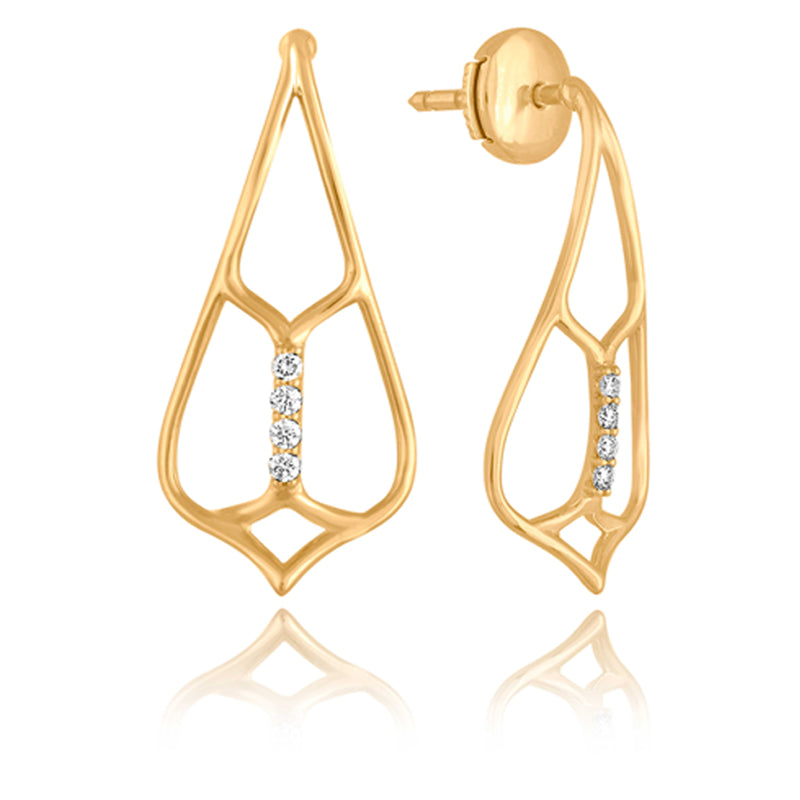 Curved Demoiselle Earrings