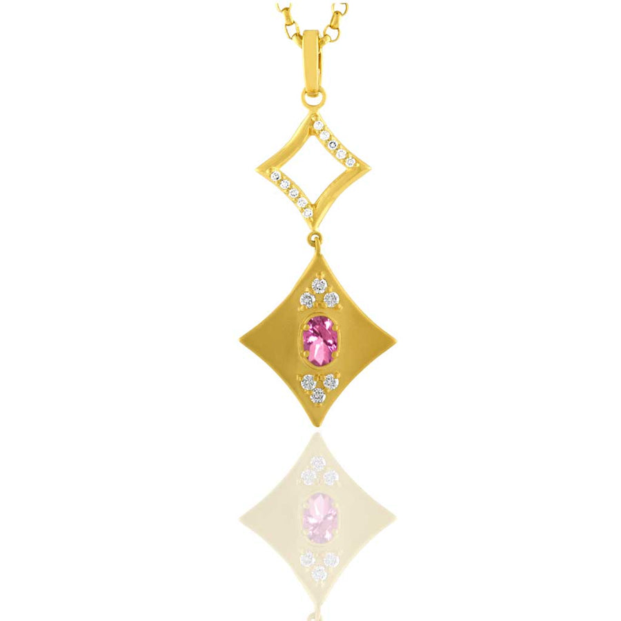 Diamond Dusted Harlequinade Pendant