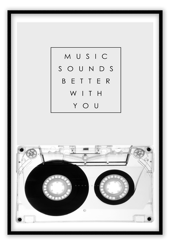 Italian Luxury Group Print 50x70cm / Black Music Sounds Better with You Brand