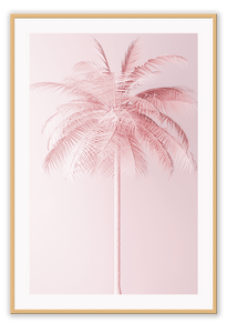 Italian Luxury Group Print 50x70cm / Natural Pink Palm Brand