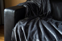 Load image into Gallery viewer, Brogo Micro Mink Supersoft Throw - Charcoal