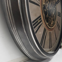 Load image into Gallery viewer, italianluxurygroup.com.au Clock Le Romancier Round Antique Provincial Moving Cogs Wall Clock Brand