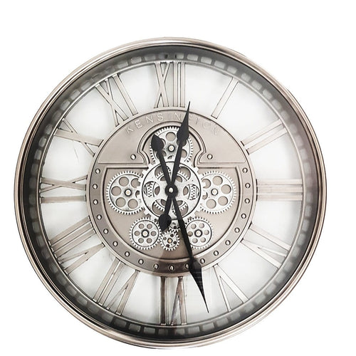 italianluxurygroup.com.au Clock The Kensington Round Industrial Moving Cogs Wall Clock Brand