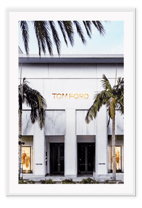 Italian Luxury Group Print 50x70cm / White Tom Ford Rodeo Brand