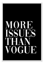 Load image into Gallery viewer, More Issues than Vogue Black
