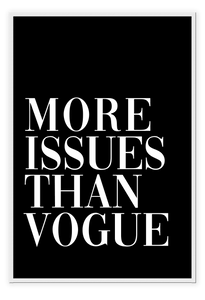 More Issues than Vogue Black