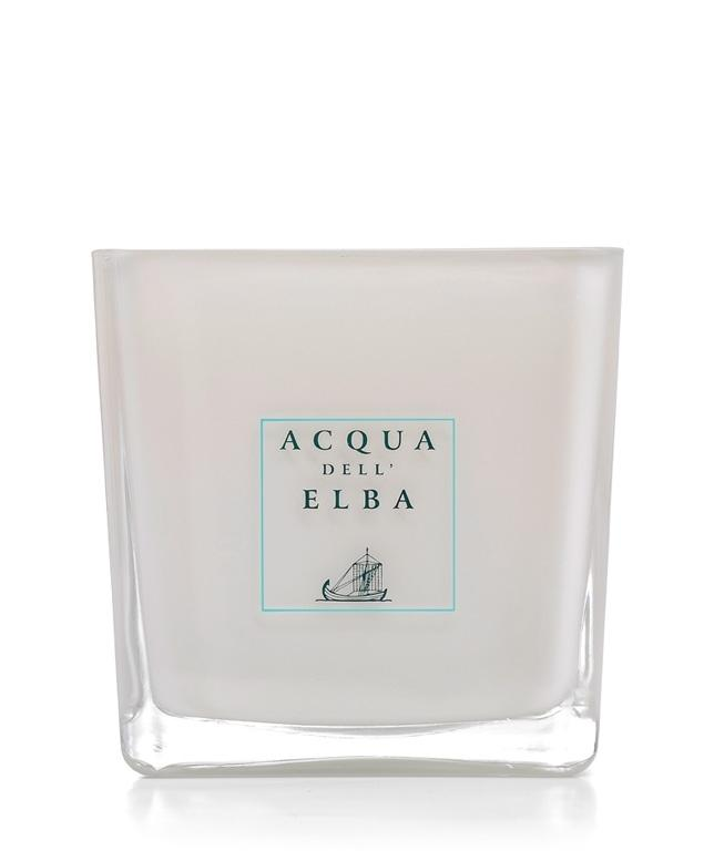Acqua Dell'Elba Mare Scented Candle 425g White Glass Container - italianluxurygroup.com.au
