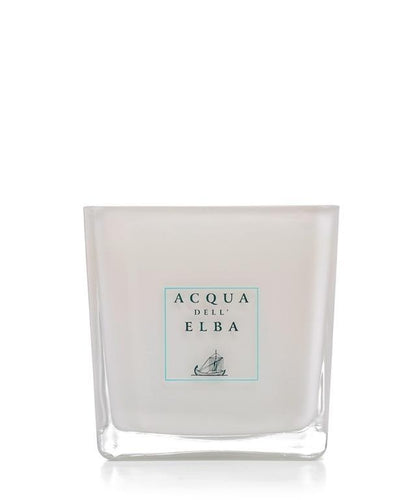 Acqua Dell'Elba Note di Natale Scented Candle 180 g. White Glass Container - italianluxurygroup.com.au