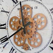 Load image into Gallery viewer, Boston D53cm Round Moving Cogs Wall Clock - Silver - italianluxurygroup.com.au