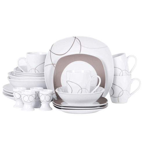 Camilla Porcelain Tableware Dinner Set 22pcs - italianluxurygroup.com.au