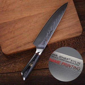 Chefs Knife Customized Engraved Stainless Steel Name Printing - italianluxurygroup.com.au