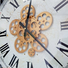 Load image into Gallery viewer, Domonique Round moving cogs wall clock - Rose Gold - italianluxurygroup.com.au