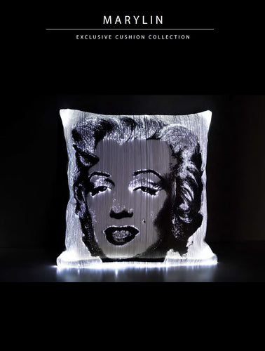 Dreamlux Optic Fibre Cushion Marilyn Monroe Exclusive Collection . - italianluxurygroup.com.au