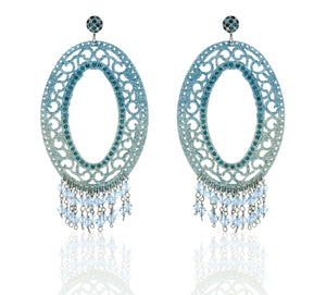 Italian Luxury Group Earrings Earrings with Glitter in Colour Gradient and Swarovski Crystal Brand