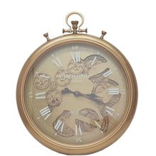 Load image into Gallery viewer, French Stopwatch moving cogs wall clock - gold - italianluxurygroup.com.au