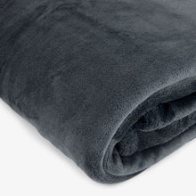 Load image into Gallery viewer, Brogo Micro Mink Supersoft Throw - Grey
