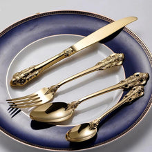 Load image into Gallery viewer, Harriett Gold Cutlery 30Pcs each - italianluxurygroup.com.au