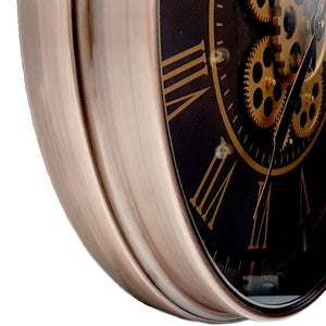 Hermes Round wall clock Rose Gold - italianluxurygroup.com.au