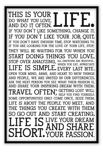 Italian Luxury Group Print Holstee Manifesto Brand