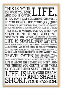 Holstee Manifesto - italianluxurygroup.com.au