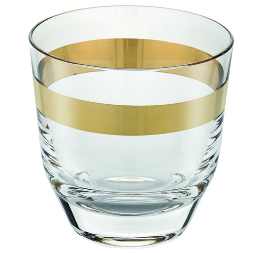 Ivv Avenue Gold Set 6 Whisky Tumbler Clear Gold Decoration Cl.32.5 - italianluxurygroup.com.au