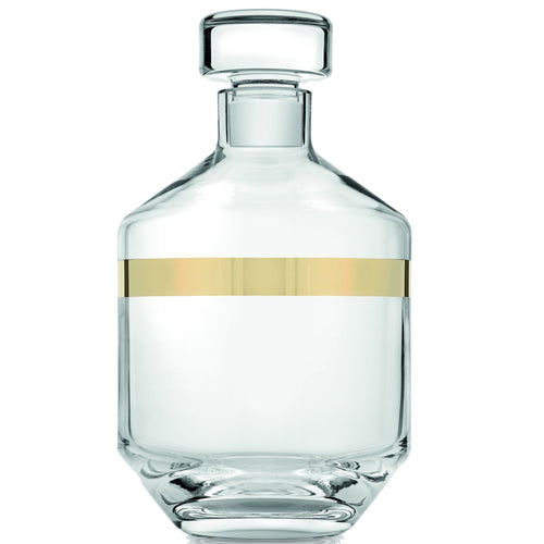 Ivv Avenue Liqueur Bottle 0,9L Cear Gold Decoration - italianluxurygroup.com.au