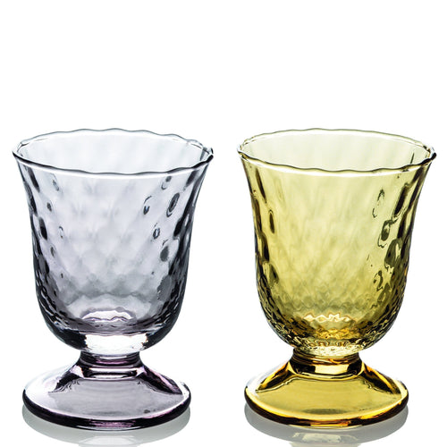 Ivv Fiordaliso Set 2 Goblet Optic Grey/honey 240ml - italianluxurygroup.com.au