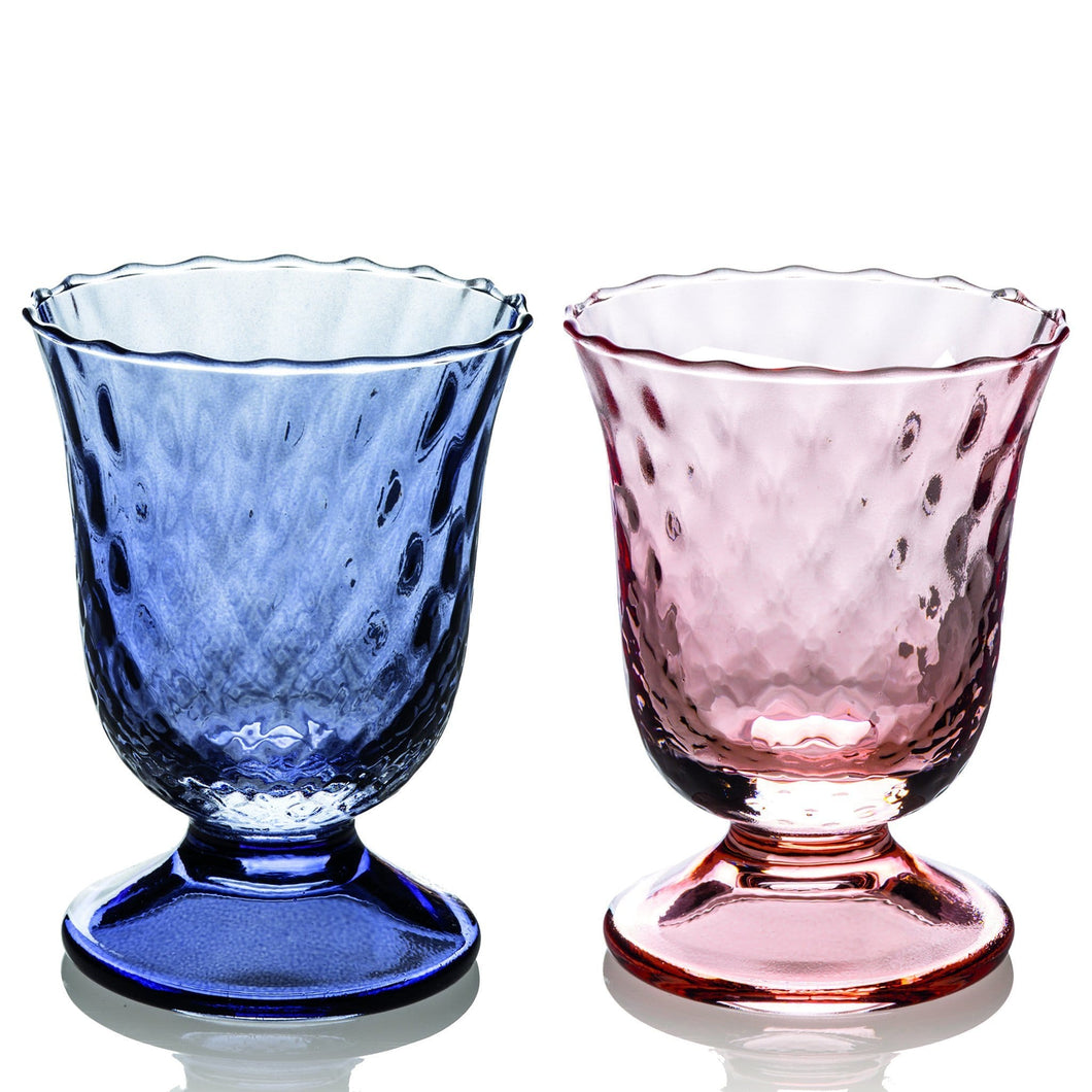 Ivv Fiordaliso Set 2 Goblet Optic Indigo Blue/pink 240ml - italianluxurygroup.com.au