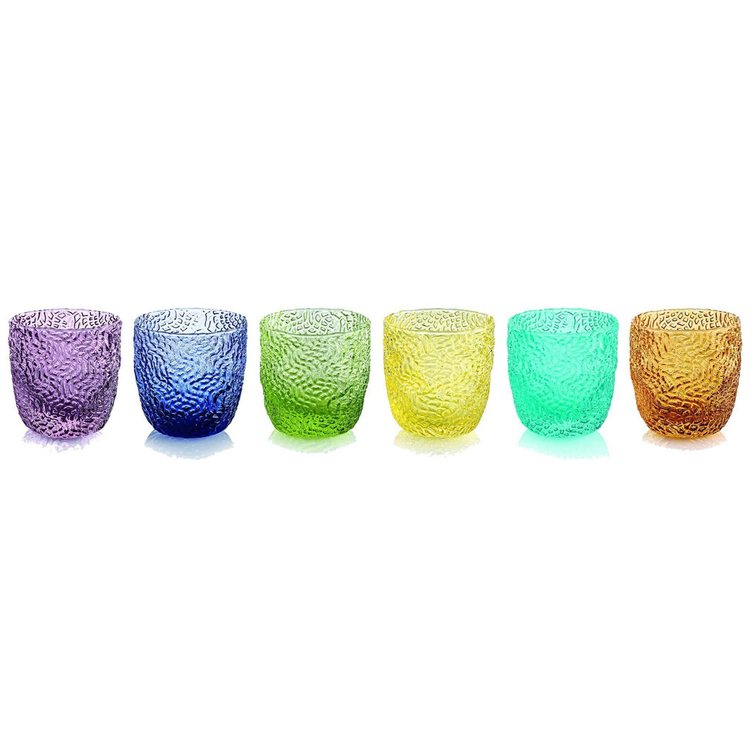 Ivv Tricot Set 6 Liqueur Glasses In Assorted Colours 0.75ml - italianluxurygroup.com.au