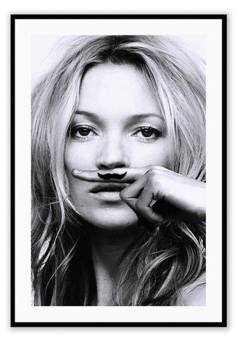 ITALIAN LUXURY GROUP Print Small		50x70cm / Black Kate Moss Life is a Joke Brand