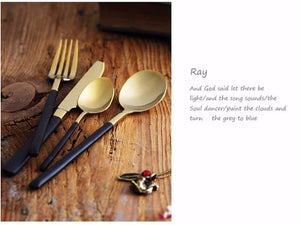 Klifford Gold Cutlery Set 4pcs - italianluxurygroup.com.au