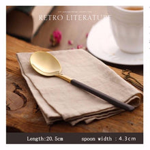 Load image into Gallery viewer, Klifford Gold Cutlery Set 4pcs - italianluxurygroup.com.au