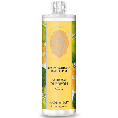 La Florentina Boboli Citrus Bath Foam 500ml - italianluxurygroup.com.au