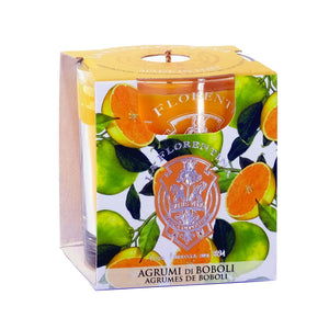 La Florentina Boboli Citrus Scented Candle Natural 160 g - italianluxurygroup.com.au