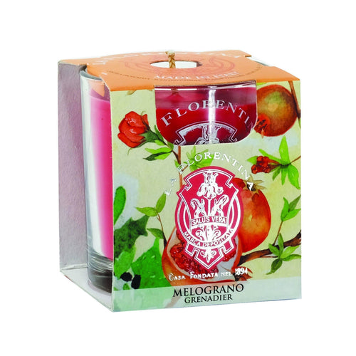La Florentina Pomegranate Scented Candle 160 g - italianluxurygroup.com.au