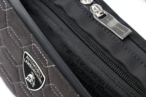 Lamborghini Zingo Belt Bag Carbon Fiber and Alcantara - italianluxurygroup.com.au