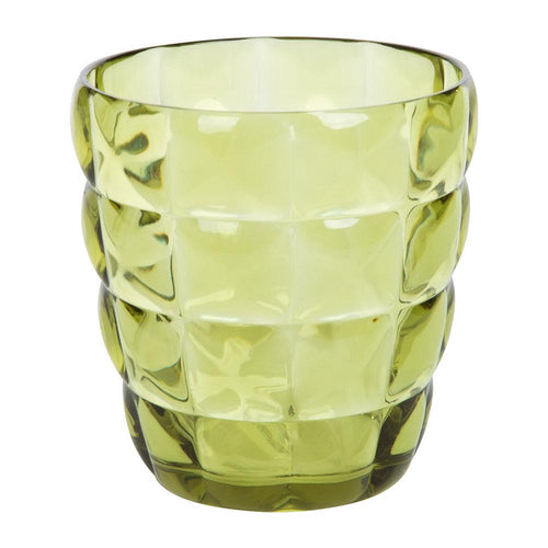 Mario Luca Giusti Diamante Plastic Tumbler Light Green - italianluxurygroup.com.au